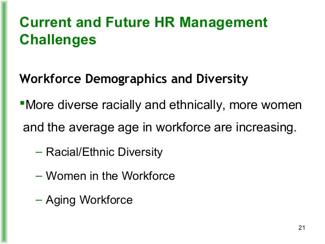 hrm challenges on diverse workforce Challenges of human resource management 6 22 workforce the future success of any organizations relies on the ability to manage a diverse body of.