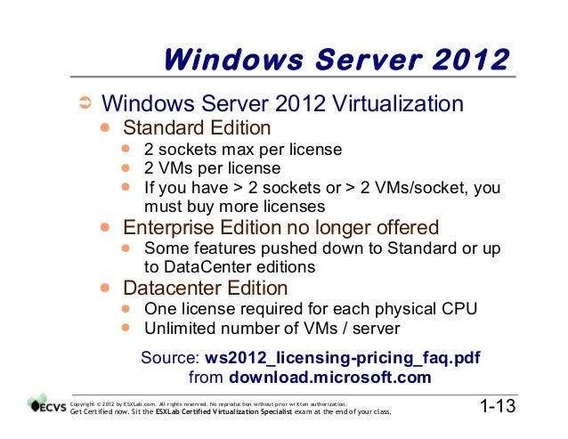 windows server 2003  vmware vsphere