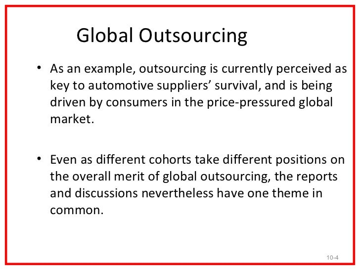 What & Example of outsourcing?