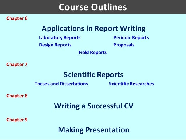course outline science in engineering