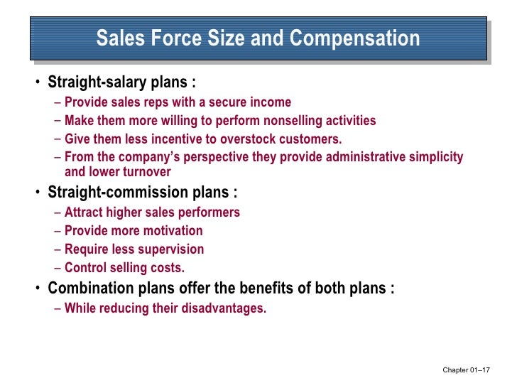 sales force compensation Title: salesforce compensation: an empirical investigation of factors related to use of salary versus incentive compensation created date: 20010815121649z.