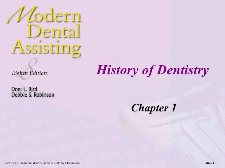 History of Dentistry Chapter 1