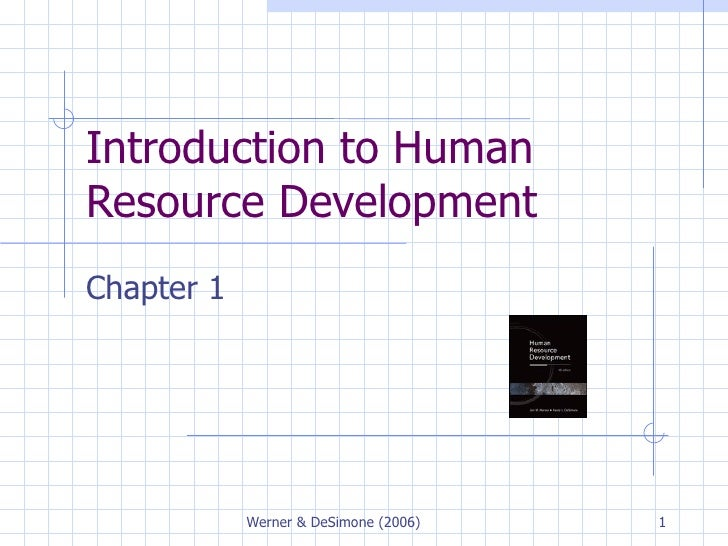 Introduction to Human Resource Development  Chapter 1