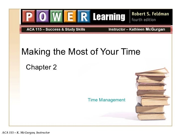 Making the Most of Your Time Chapter 2 Time Management
