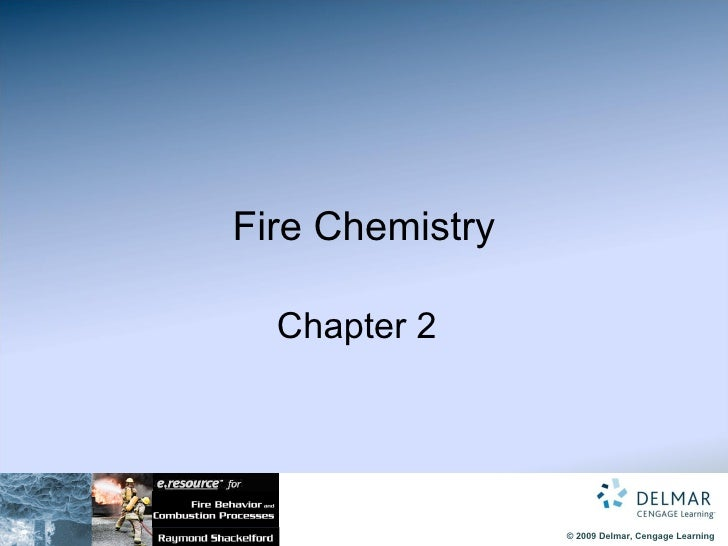 Fire Chemistry   Chapter 2