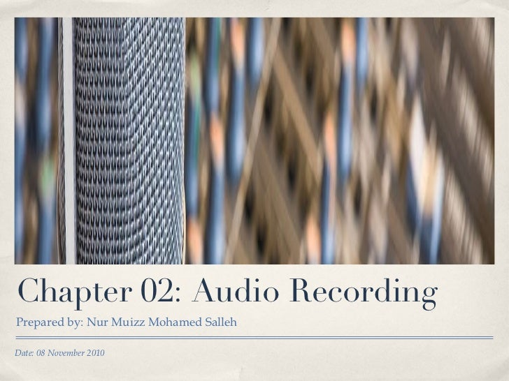 Chapter 02   audio recording - part i
