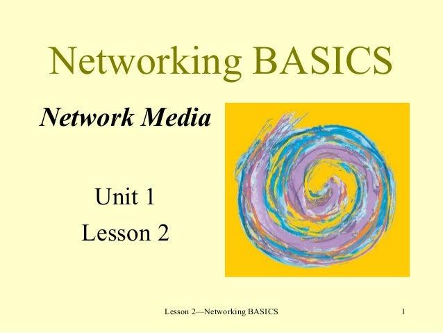 1Lesson 2—Networking BASICS Networking BASICS Network Media Unit 1 Lesson 2