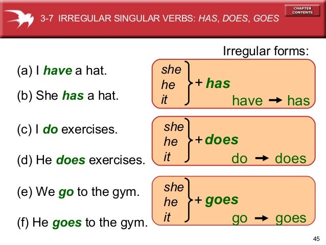 ... have present simple present simple explanation : Verb Have Has