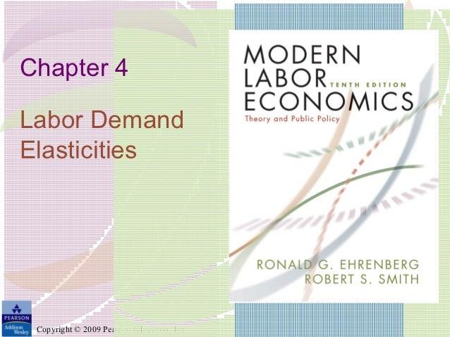 Chapter 4Labor DemandElasticities Copyright © 2009 Pearson Education, Inc.