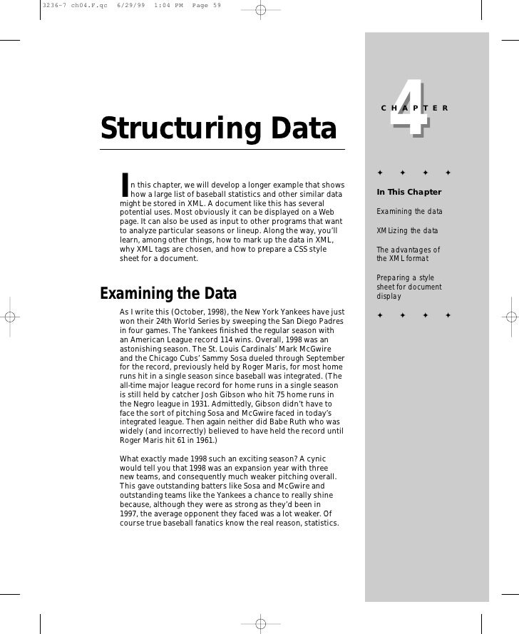 4                                                                        CHAPTER   Structuring Data                       ...