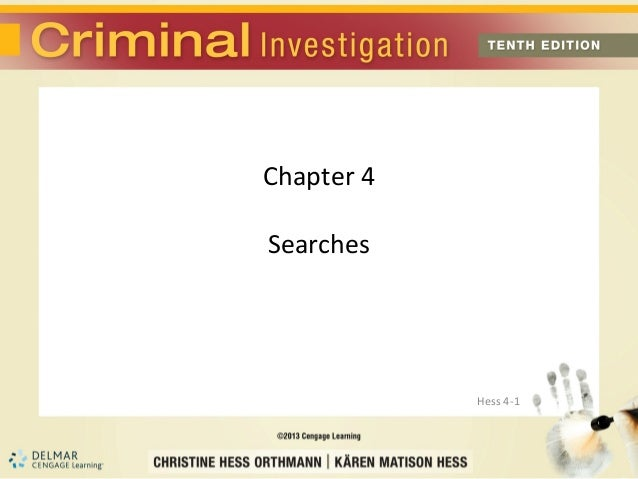 Chapter 4Searches            Hess 4-1