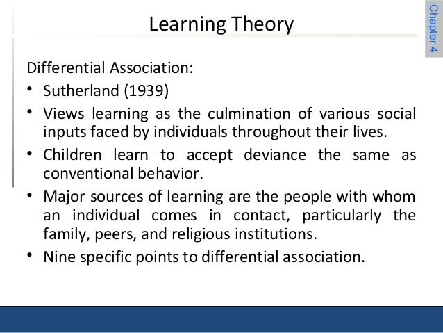 differential association theory essay View and download differential association theory essays examples also discover topics, titles, outlines, thesis statements, and conclusions for your differential association theory essay.