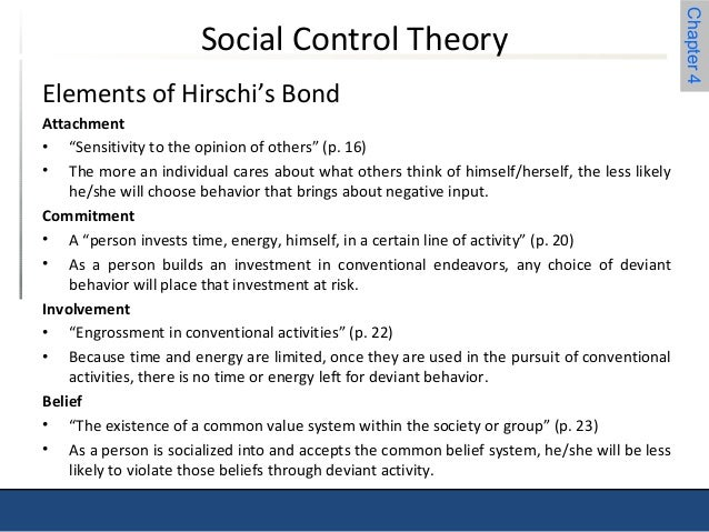 a paper on travis hirschis social bonding theory