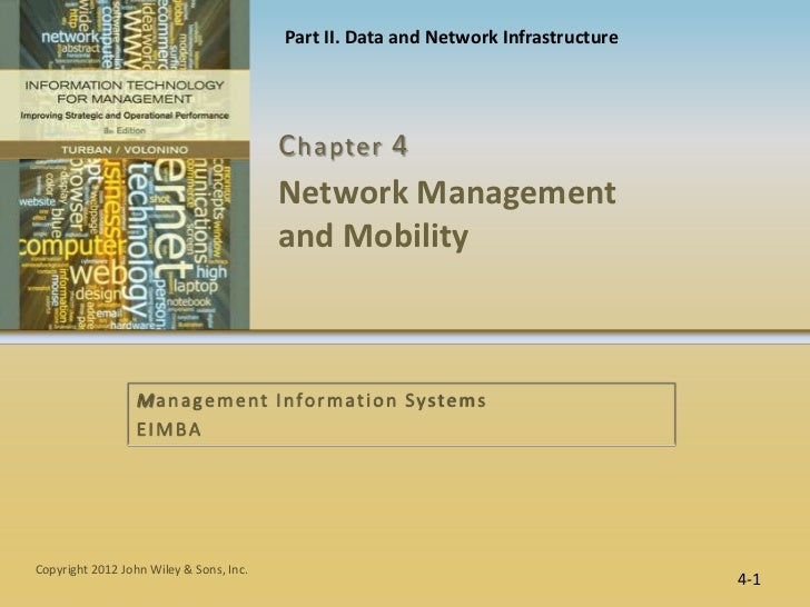 Part II. Data and Network Infrastructure                                         C hapter 4                               ...
