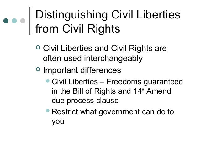 Essay topic on civil liberties.?