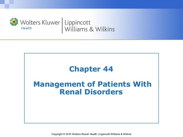 MANAGEMENT OF PATIENT WITH RENAL DISORDER