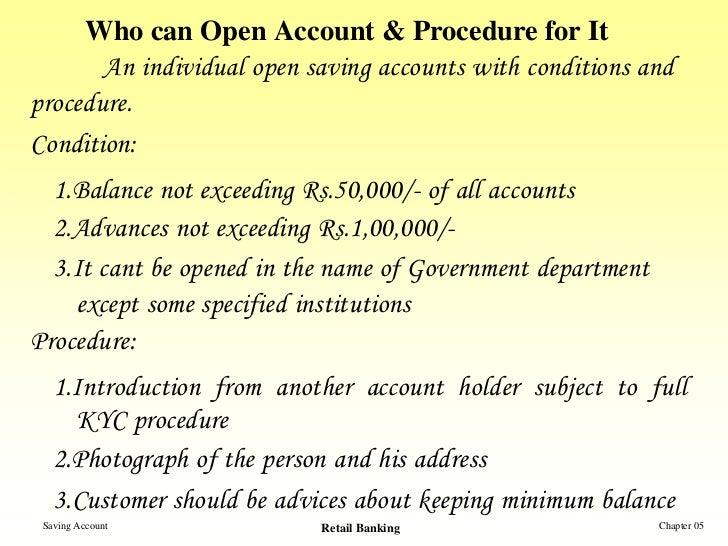 Procedure to Open a Bank Account Open Account Procedure
