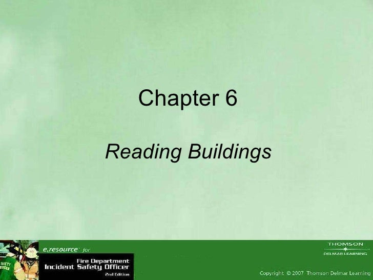 Chapter 6 Reading Buildings