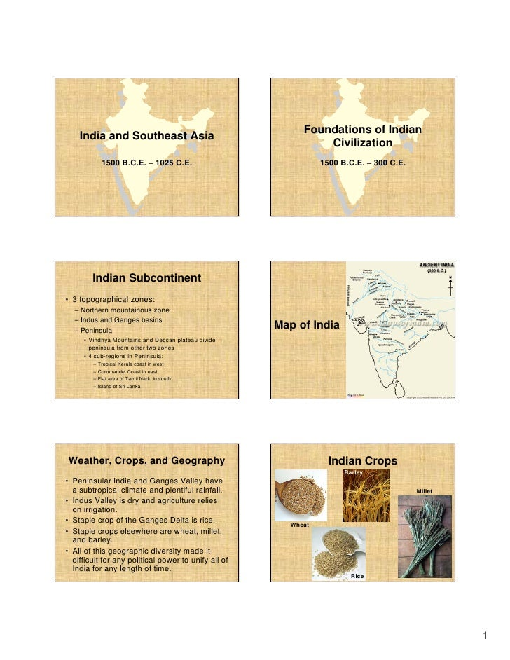 Foundations of Indian     India and Southeast Asia                                                                 Civiliz...