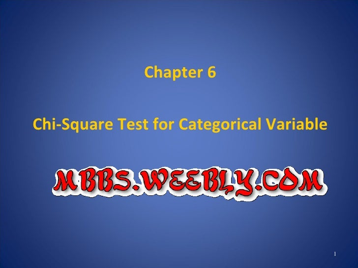 Chapter 07 Chi Square