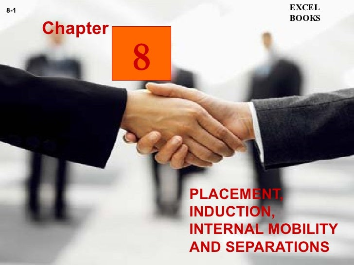 PLACEMENT, INDUCTION, INTERNAL MOBILITY AND SEPARATIONS  Chapter EXCEL BOOKS 8-1 8