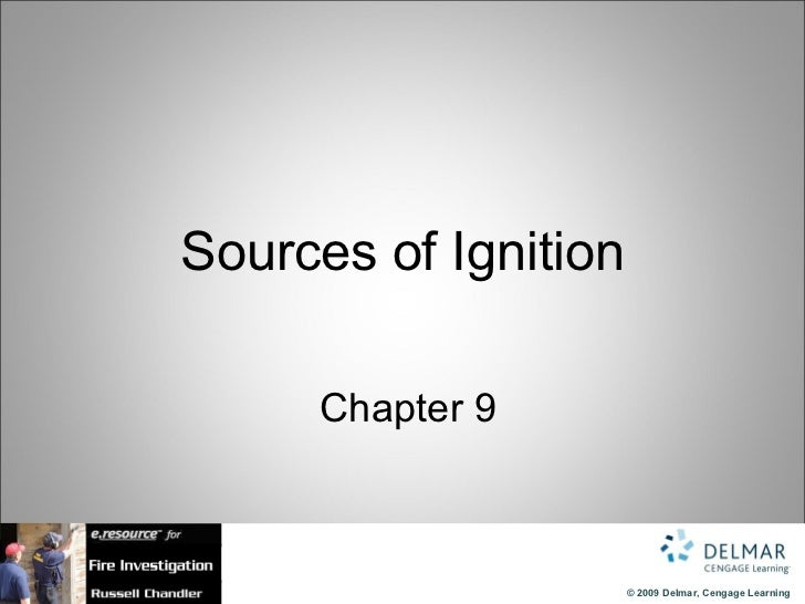 Sources of Ignition   Chapter 9