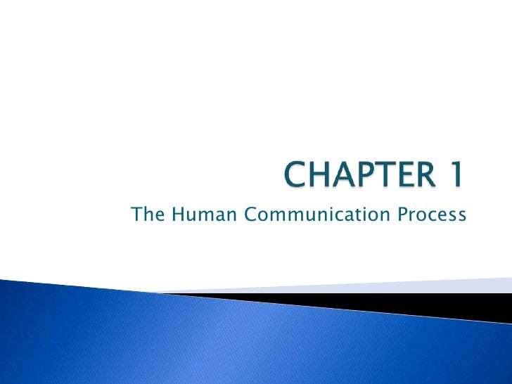 Chapter 1: The Human Communicaton Process