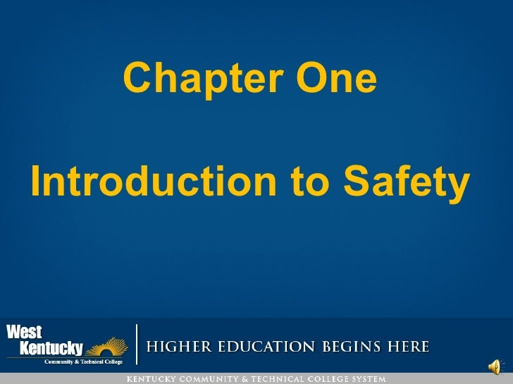 Chapter One  Introduction to Safety