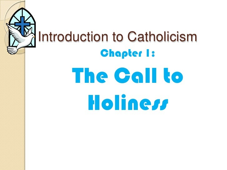 Introduction to Catholicism<br />Chapter 1: <br />The Call to Holiness<br />