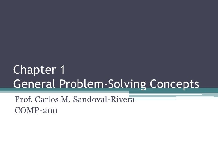 Chapter 1 General Problem-Solving Concepts