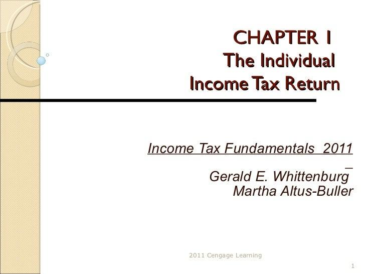 CHAPTER 1 The Individual  Income Tax Return Income Tax Fundamentals  2011 Gerald E. Whittenburg  Martha Altus-Buller 2011 ...
