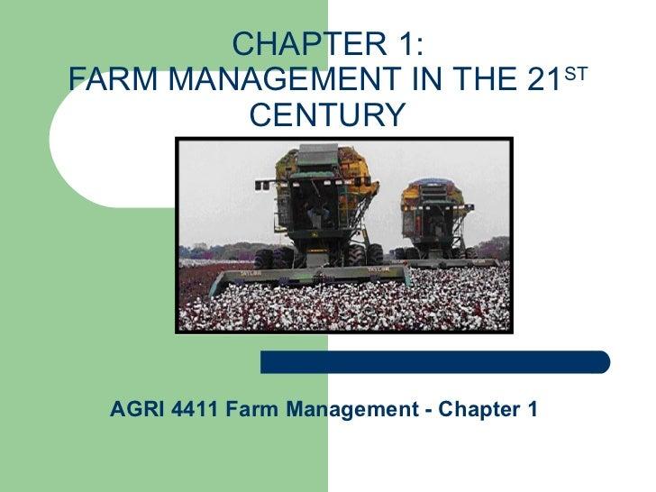 AGRI 4411 Farm Managment Chapter 1