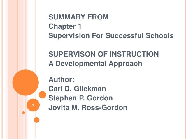 Chapter 1 - Supervisions for successful school
