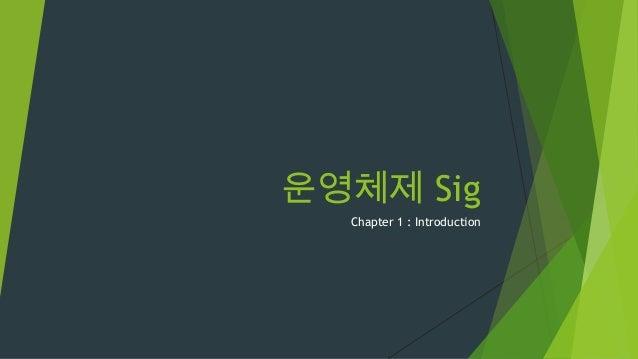 운영체제 Sig  Chapter 1 : Introduction