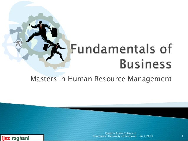 Fundamental of business