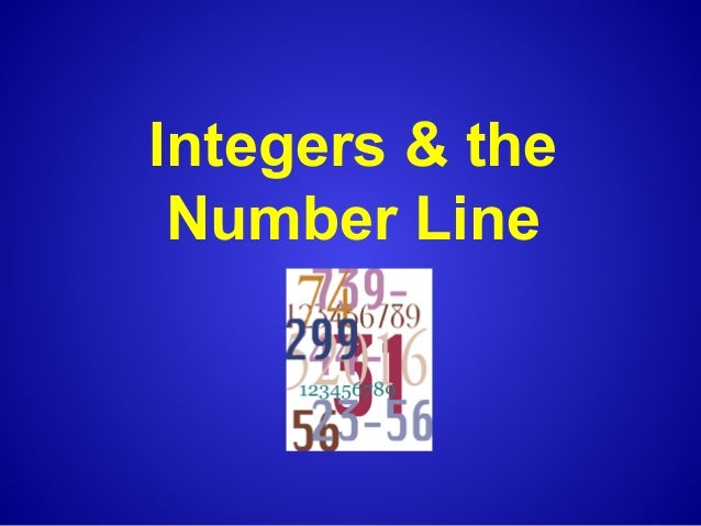 Integers & the Number Line