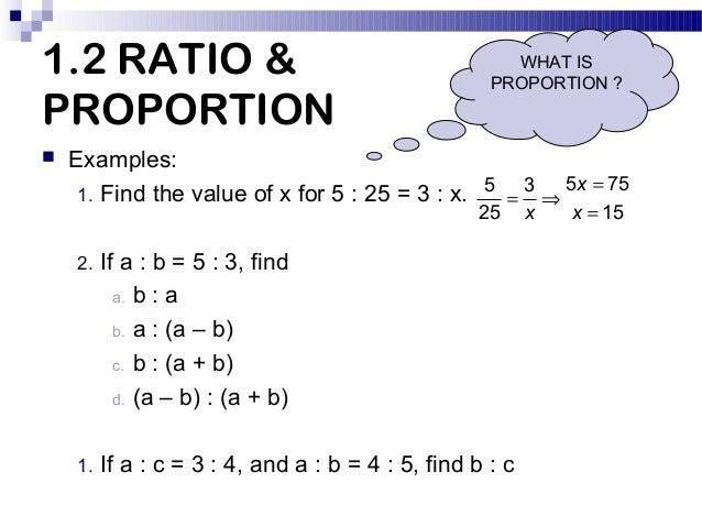 math ratio problems