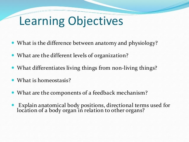 A brief introduction to physiology