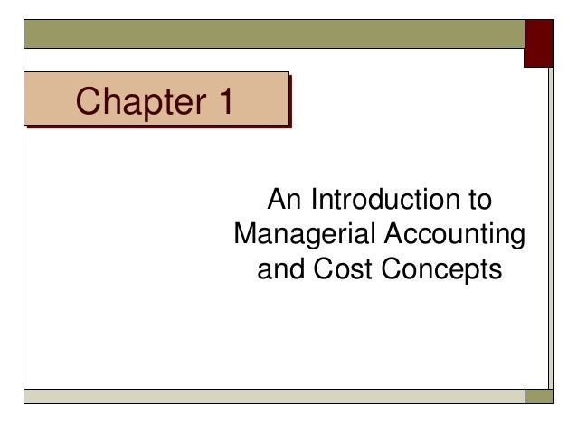Cost accounting assignment material chapter 1