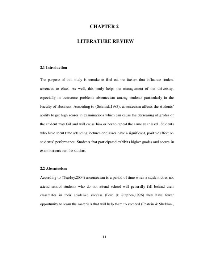 Chapter II: Review of Literature mba essay writing