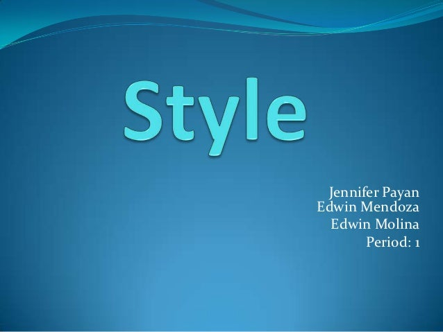 Style-Their Eyes Were Watching God