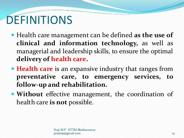 management of health services pdf