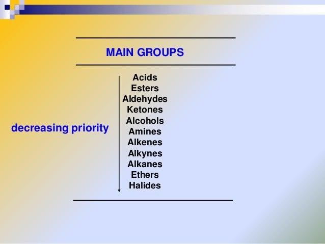 Phenyl Group Priority Groups Decreasing Priority