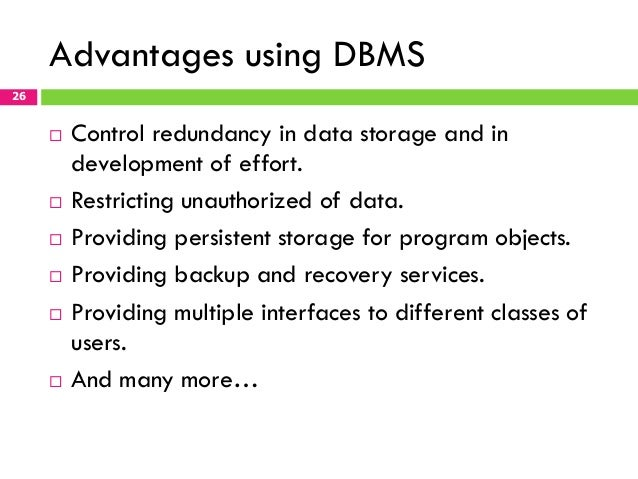 recovery system dbms