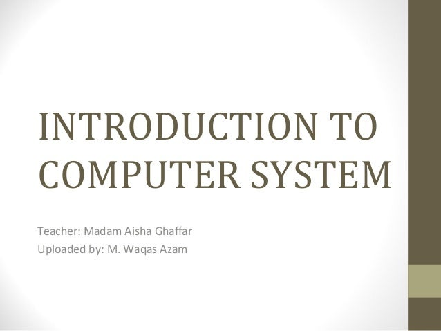 Chapter1 introduction to computer systems
