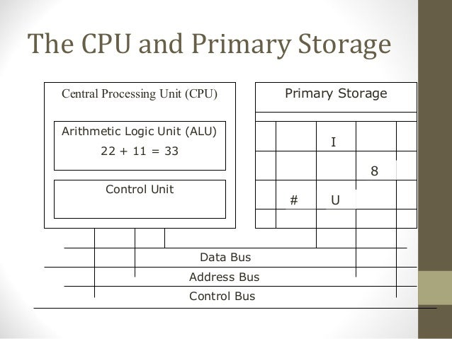 Cpu Storage Unit The Cpu And Primary Storage