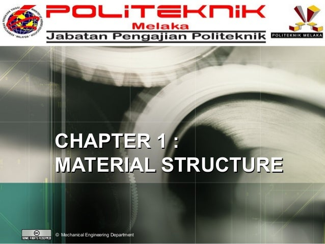 LOGO  CHAPTER 1 : MATERIAL STRUCTURE  © Mechanical Engineering Department