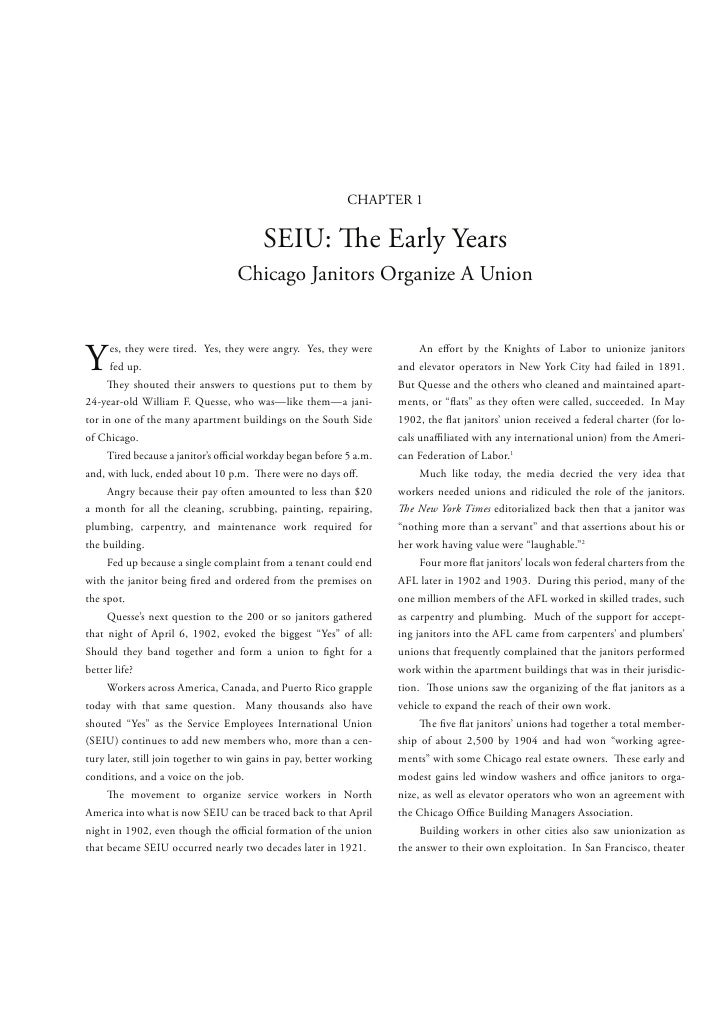 Chapter 1   seiu the early years