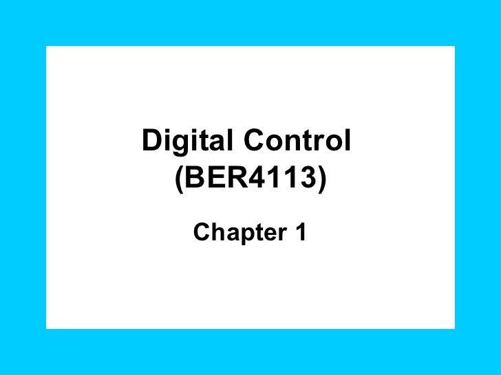 Digital Control  (BER4113) Chapter 1