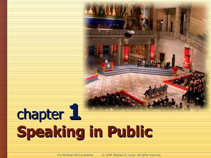 chapter  1 Speaking in Public